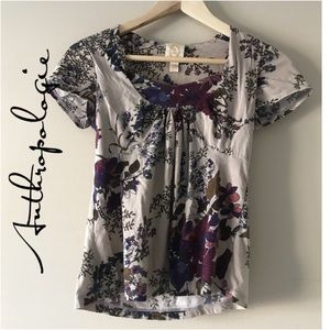 Anthropologie Ric Rac floral top S